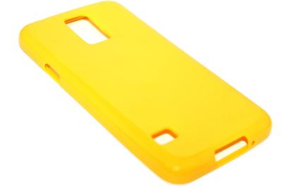 Siliconen hoesje geel Samsung Galaxy S5 (Plus) / Neo