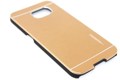 Aluminium hoesje goud Samsung Galaxy S6 Edge