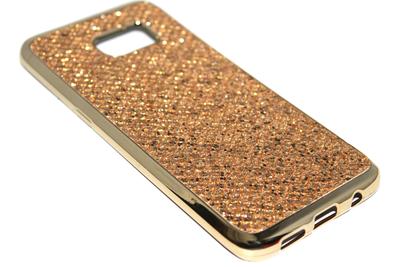 Bling bling hoesje goud Samsung Galaxy S7 Edge
