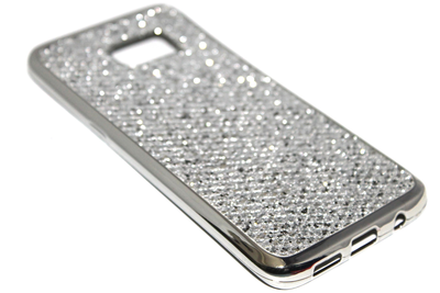 Bling bling hoesje zilver Samsung Galaxy S7 Edge