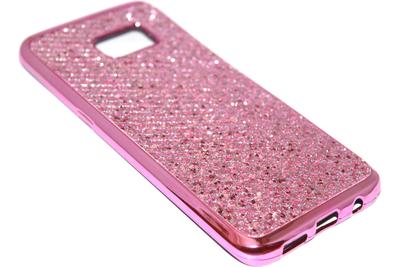 Bling bling hoesje roze Samsung Galaxy S7 Edge