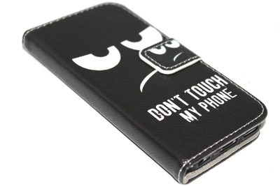 Don't touch my phone hoesje kunstleer Samsung Galaxy S6 Edge