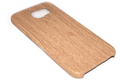 Houten hoesje bruin Samsung Galaxy S6 Edge