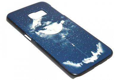 Eclipse maan en aarde hoesje Samsung Galaxy S6 Edge