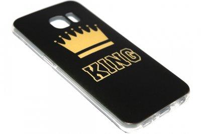 Goud King hoesje Samsung Galaxy S6 Edge