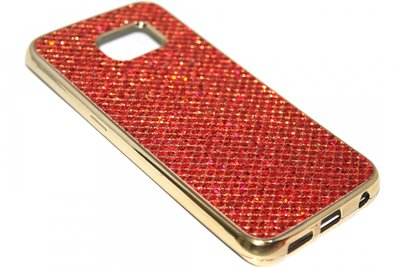 Bling bling hoesje rood Samsung Galaxy S6 Edge