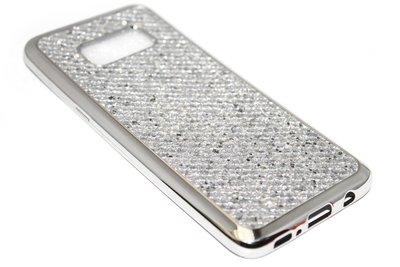 Bling bling hoesje zilver Samsung Galaxy S8 Plus