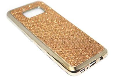 Bling bling hoesje goud Samsung Galaxy S8 Plus