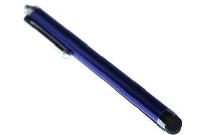 Touchscreen-pen donkerblauw universeel met metalen clip