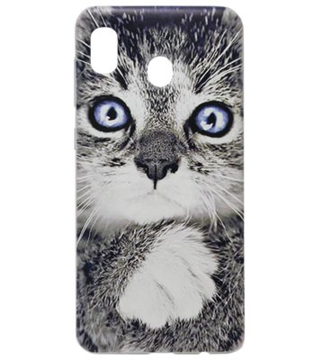 ADEL Siliconen Back Cover Softcase Hoesje voor Samsung Galaxy A20/ A30 - Katten