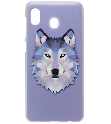 ADEL Kunststof Back Cover Hardcase Hoesje voor Samsung Galaxy A20/ A30 - Wolf Paars