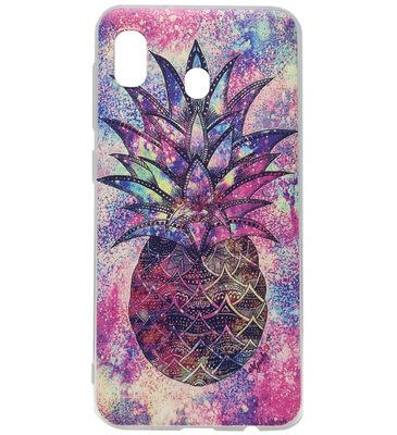 ADEL Siliconen Back Cover Softcase Hoesje voor Samsung Galaxy A20/ A30 - Ananas Kleur