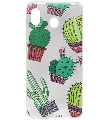 ADEL Siliconen Back Cover Softcase Hoesje voor Samsung Galaxy A20/ A30 - Cactus