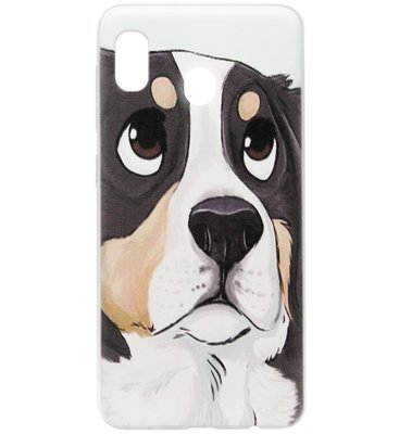 ADEL Siliconen Back Cover Softcase Hoesje voor Samsung Galaxy A20/ A30 - Berner Sennenhond