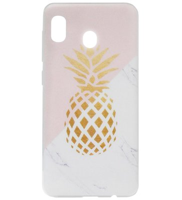 ADEL Siliconen Back Cover Softcase Hoesje voor Samsung Galaxy A20/ A30 - Ananas