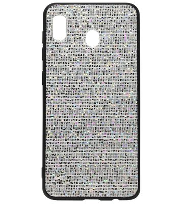 ADEL Siliconen Back Cover Softcase Hoesje voor Samsung Galaxy A20/ A30 - Bling Bling Zilver