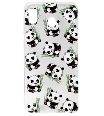 ADEL Siliconen Back Cover Softcase Hoesje voor Samsung Galaxy A20/ A30 - Panda's