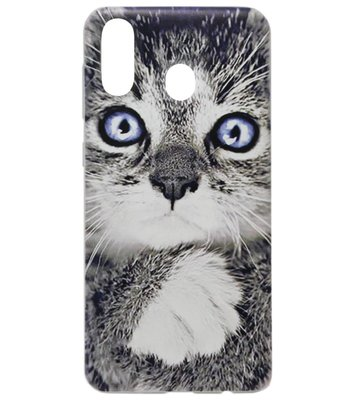 ADEL Siliconen Back Cover Softcase Hoesje voor Samsung Galaxy A40 - Katten