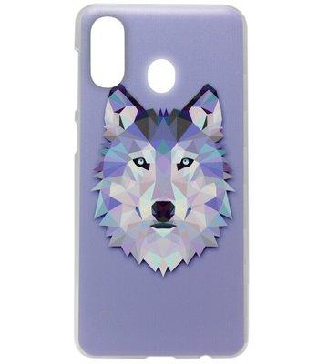 ADEL Kunststof Back Cover Hardcase Hoesje voor Samsung Galaxy A40 - Wolf Paars
