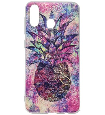 ADEL Siliconen Back Cover Softcase Hoesje voor Samsung Galaxy A40 - Ananas Kleur