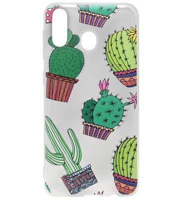 ADEL Siliconen Back Cover Softcase Hoesje voor Samsung Galaxy A40 - Cactus