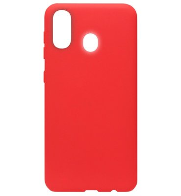 ADEL Siliconen Back Cover Softcase Hoesje voor Samsung Galaxy A40 - Rood