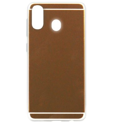 ADEL Siliconen Back Cover Softcase Hoesje voor Samsung Galaxy A40 - Spiegel Beige