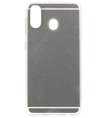 ADEL Siliconen Back Cover Softcase Hoesje voor Samsung Galaxy A40 - Spiegel Zilver