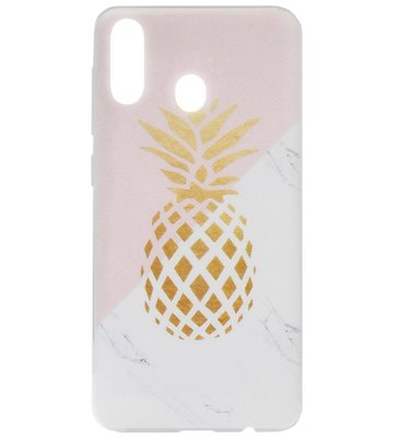 ADEL Siliconen Back Cover Softcase Hoesje voor Samsung Galaxy A40 - Ananas