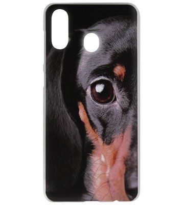 ADEL Kunststof Back Cover Hardcase Hoesje voor Samsung Galaxy A40 - Teckel Hond