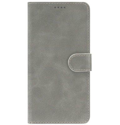 ADEL Kunstleren Book Case Portemonnee Pasjes Hoesje voor Samsung Galaxy A40 - Grijs