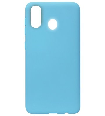 ADEL Siliconen Back Cover Softcase Hoesje voor Samsung Galaxy A40 - Blauw