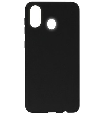 ADEL Siliconen Back Cover Softcase Hoesje voor Samsung Galaxy A40 - Zwart