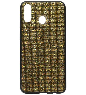 ADEL Siliconen Back Cover Softcase Hoesje voor Samsung Galaxy A40 - Bling Bling Goud