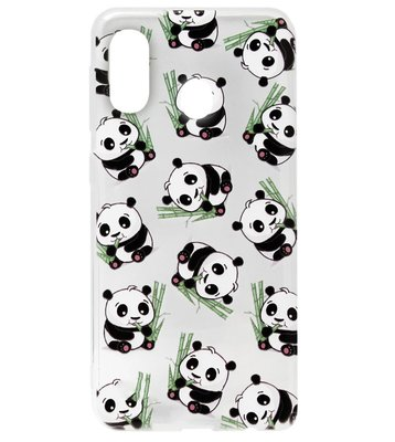 ADEL Siliconen Back Cover Softcase Hoesje voor Samsung Galaxy A40 - Panda's