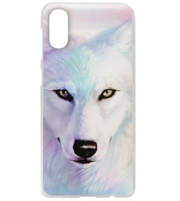 ADEL Kunststof Back Cover Hardcase Hoesje voor Samsung Galaxy A70(s) - Wolf Lichtblauw