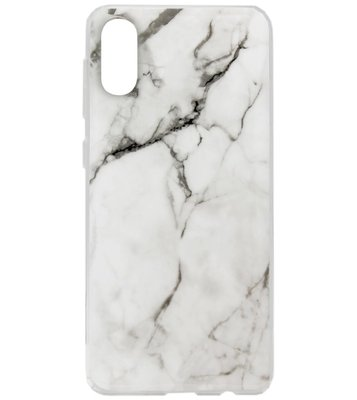ADEL Siliconen Back Cover Softcase Hoesje voor Samsung Galaxy A70(s) - Marmer Wit