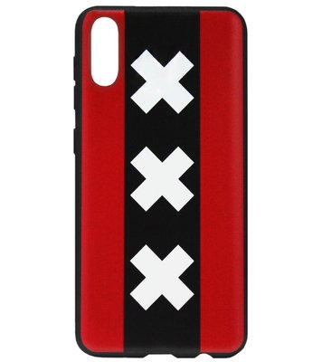 ADEL Siliconen Back Cover Softcase Hoesje voor Samsung Galaxy A70(s) - Andreaskruisen Amsterdam