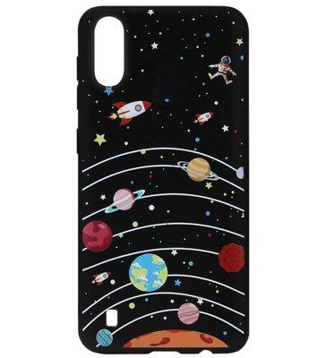 ADEL Siliconen Back Cover Softcase Hoesje voor Samsung Galaxy A70(s) - Heelal Ruimte