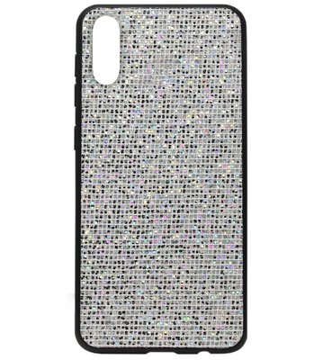 ADEL Siliconen Back Cover Softcase Hoesje voor Samsung Galaxy A70(s) - Bling Bling Zilver