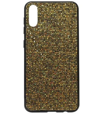 ADEL Siliconen Back Cover Softcase Hoesje voor Samsung Galaxy A70(s) - Bling Bling Goud