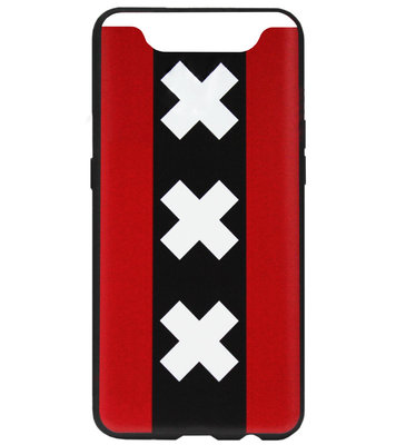 ADEL Siliconen Back Cover Softcase Hoesje voor Samsung Galaxy A80/ A90 - Andreaskruisen Amsterdam
