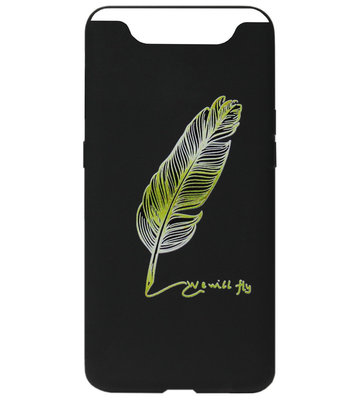 ADEL Siliconen Back Cover Softcase Hoesje voor Samsung Galaxy A80/ A90 - Veer Goud