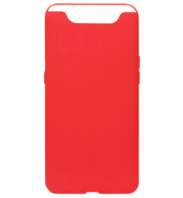 ADEL Siliconen Back Cover Softcase Hoesje voor Samsung Galaxy A80/ A90 - Rood