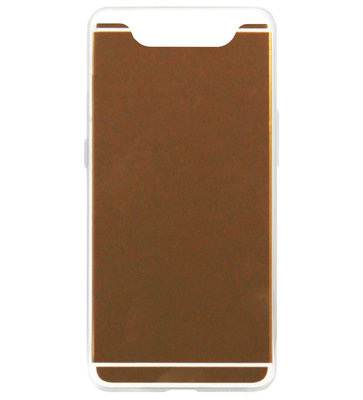 ADEL Siliconen Back Cover Softcase Hoesje voor Samsung Galaxy A80/ A90 - Spiegel Beige