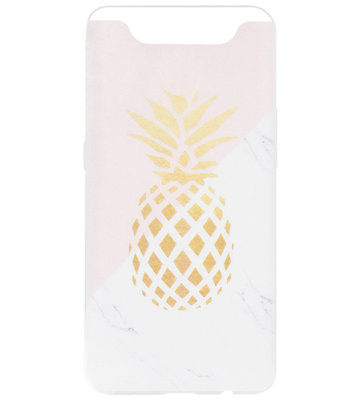ADEL Siliconen Back Cover Softcase Hoesje voor Samsung Galaxy A80/ A90 - Ananas