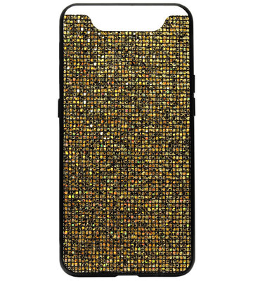 ADEL Siliconen Back Cover Softcase Hoesje voor Samsung Galaxy A80/ A90 - Bling Bling Goud