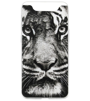 ADEL Siliconen Back Cover Softcase Hoesje voor Samsung Galaxy A80/ A90 - Tijger Zwart