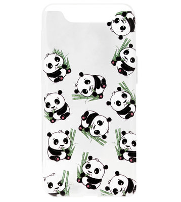 ADEL Siliconen Back Cover Softcase Hoesje voor Samsung Galaxy A80/ A90 - Panda's