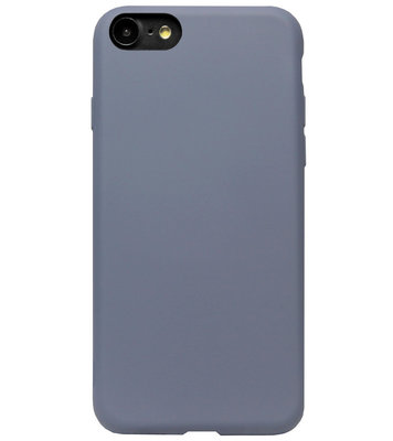 ADEL Premium Siliconen Back Cover Softcase Hoesje voor iPhone SE (2020)/ 8/ 7 - Lavendel Blauw Paars